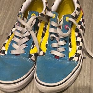 Girl colorful vans size 3